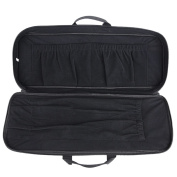 XTACER Recurve Takedown Bow Case Fully Padded Case with Front Zipped Pocket, Arrow Tube Holder