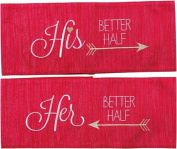 His and Her Better Half Pillow Wrap Set