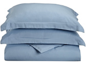 Blue Nile Mills 1500 Series Microfiber Duvet Cover Set, Extra Soft, Wrinkle Resistant, Twin/Twin XL, Light Blue