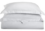 Blue Nile Mills 1500 Series Microfiber Solid Duvet Cover Set, Extra Soft, Wrinkle Resistant, Full/Queen, White