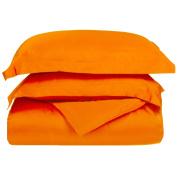 Blue Nile Mills 1500 Series Microfiber Duvet Cover Set, Extra Soft, Wrinkle Resistant, King/Cal King, Orange