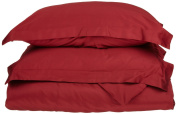 Blue Nile Mills 1500 Series Microfiber Duvet Cover Set, Extra Soft, Wrinkle Resistant, Twin/Twin XL, Burgundy