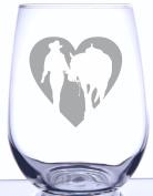 Girl & Horse Heart Silhouette