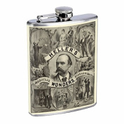 Vintage Magic Poster S6 Flask Stainless Steel 240ml Hip Silver Whiskey Drinking Magician Ads Sign