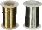 Gold and Silver Craft Wire 20-Gauge Non Tarnish 14m of Each Colour. Perfect for Crafting Projects, Beading, Jewellery, Ornaments, Ming Trees, Wire Sculptures, and More