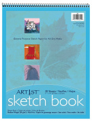 Pacon Art1st Medium Weight Sketch Book, White, 28cm by 36cm , 30 Sheets