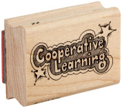 """Centre Enterprise C397 """"COOPERATIVE LEARNING WITH STARS"""" Maple Wood Stamp"""
