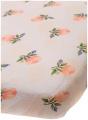 Little Unicorn Cotton Muslin Fitted Sheet - Watercolour Rose, Pink