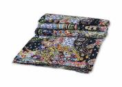 Indian Paisley Print Kantha Quilt Twin Kantha Bedspread Blanket Kantha Throw