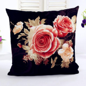 Leegor Stylish Exquisite Pillow Case Elegant Peony Printing Dyeing Sofa Bed Home Decor Cotton Cushion Cover