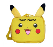Personalised Pokemon Pikachu Lunch Bag Lunchbox with Plush Ears