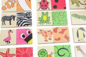 Wood Animal Pattern Sorting Memory Game - Wooden toy