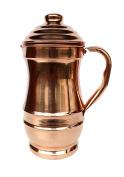 Rastogi Handicrafts Pure Copper Maharaja Jug Copper Pitcher for Ayurveda Health Benefit