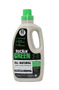 Rockin' Green Natural Liquid Laundry Detergent, Gentle Yet Powerful Laundry Soap, HE Rated - Up to 80 Loads Per Bottle, Unscented