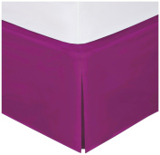 Fancy Collection Easy Care Tailored Microfiber 36cm Bed Skirt Solid