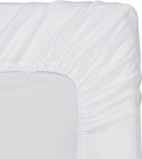 1 PC Fitted Sheet Fit Upto 10-36cm Deep Pocket 600 Thread Count 100% Egyptian Cotton Solid King white