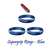 5 SETS of Harrows Supergrip Dart Stem SPARE GRIPPER RINGS - 5 COLOURS AVAILABLE