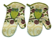 Owel Design Jumbo Oven Mitt Set Of 2