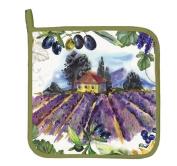 "Michel Design Works ""CAMPAGNA"" Potholder - Lavender Field in Italy"