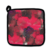 Gear New 252753-GN-PH1 Watercolour Red Black Painting with Blots Pot Holder