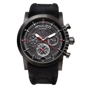Mulco MW3-15097-025 Street London Collection Black Silicone Band