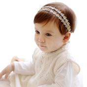 Leegor Exquisite Headband Baby Girls Rhinestone Flowers Hairband Photography Props