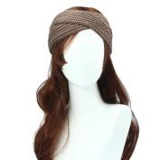 Leegor Women Bohemia Weaving Cross retro Headband Handmade Knitting Hairband