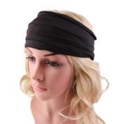 Leegor Bohemia Wide Yoga Headband Womens Running Non-slip Headwrap Hairband