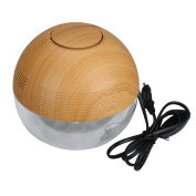 Muxika New 420ml Wooden Anion Essential Oil Aroma Diffuser Ultrasonic Air Mist Humidifier Atomizer with Colour Changing LED. Perfect for Home, Car, Work, Bath,Great Gift