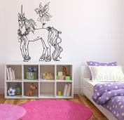 Wall Decal Sticker Bedroom Unicorn Magic Horse Dream Cartoon Kids Girls Boys Teenager Room 599b