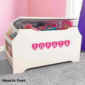 Personalised Dibsies Kids Toy Box with Book Storage - White