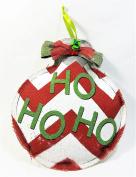 Large Colourful Burlap Ho Ho Ho Ornament/Wall Hanging