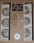 American Vintage 3m LED Copper String Lights- 6 Glass Bulbs Per String with 4 Hour Timer