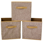 Linen Cubes Set of 3- Organising Storage Collapsible Small Space Storage for EXPEDIT Closetmaid Bookcase Blanket Linen