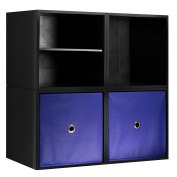 iCube 4-Cube Organiser with Drawers and Shelf