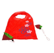 OUBAO Strawberry Fruit Green Folding Convenience Shopping Bag