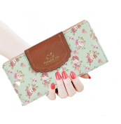 SeptCity Womens Wallet Cute Floral Soft Leather Clutch Gift for Her, 2071