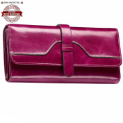 Itslife Women's RFID Blocking Luxury Leather Trifold Wallet Ladies Clutch Travel Purse