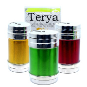 Set of 3 Stainless Steel Salt Pepper Shaker Seasoning Cans with Rotating Cover