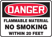 FLAMMABLE MATERIAL NO SMOKING WITHIN 6.1m