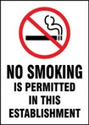 NO SMOKING IS PERMITTED IN THIS ESTABLISHMENT W/GRAPHIC