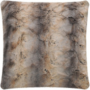 Mellanni Faux-Fur Plush Throw Pillow - BEST QUALITY Fuzzy Accent Pillow - Cushion and Cover, Decorative Square 46cm x 46cm
