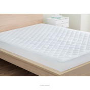 LinenSpa Waterproof Quilted Mattress Pad with Hypallergenic Fill & Deep Pocket Fitted Skirt, Twin XL