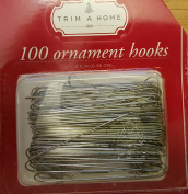 Ornament Hooks Tree Trimming Hooks 100 Silver Ornament Hooks Trim a Home 6.4cm