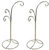Creative Hobbies Ornament Display Stand Holder Hanger Has 3 Hooks, 33cm Tall -Pack of 2 Stands