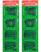 Green Ornament Hooks in 2 Sizes Pack Of 600