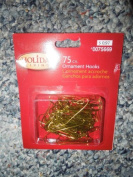 Brass Coloured Ornament Hooks 75 in a Package by Holiday Living