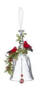 GANZ 18cm Kyrstal Kiss Ball Ornament, Double Cardinal Bell - Wedding Acrylic Kissing Crystal-like KK215