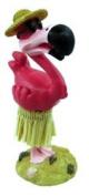 Hula Flamingo Mini Dashboard Doll 11cm
