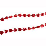 Miniature Tree Garland Red Hearts 2.7m Length H9769-B2